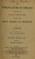 view The nomenclature of diseases / drawn up by a joint committee appointed by the Royal College of Physicians of London.