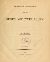 view Physiologische Untersuchungen über das Sehen mit zwei Augen / von P.L. Panum.