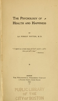 view The psychology of health and happiness