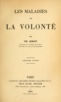 view Les maladies de la volonté / par Th. Ribot.