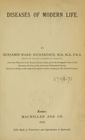 view Diseases of modern life / by Benjamin Ward Richardson.