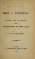 view Medical hand-book : containing a statement of the principal diseases, with testimonials of remarkable cures