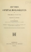 view Oeuvres ophthalmologiques de Thomas Young