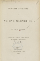 view Practical instruction in animal magnetism