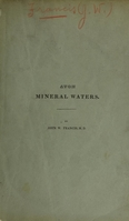 view Observations on the mineral waters of Avon, Livingston County, New York