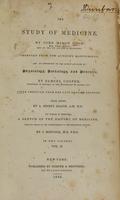 view The study of medicine (Volume 2).