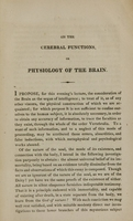 view An inquiry into the functions of the brain in man, and in the lower order of animals : delivered as a lecture before the Academy of Natural Sciences of Philadelphia / by a physician.