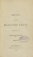 view Directions for the medicine chest / prepared by Lewis Heermann.