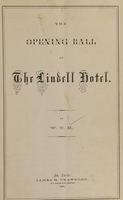 view The opening ball of the Lindell Hotel / by W.T.H.