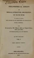 view Philosophical essays on morals, literature, and politics (Volume 1).