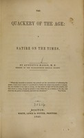 view The quackery of the age : a satire on the times / by Augustus Mason.