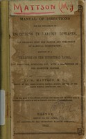 view Manual of directions for the employment of injections in various diseases : with remarks upon the nature and treatment of habitual constipation, preceded by a treatise on the intestinal canal, its structure, functions, etc., with a description of the digestive process