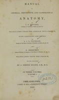 view Manual of general, descriptive, and pathological anatomy (Volume 1).