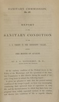 view Report on the sanitary condition of the U.S. troops in the Mississippi Valley, during the month of August