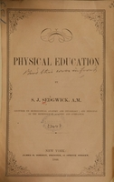 view Physical education / by S.J. Sedgwick.