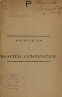 view Principles of hospital construction.