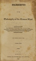 view Elements of the philosophy of the human mind.