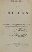 view Memoranda on poisons