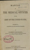 view Manual of the medical officer of the Army of the United States