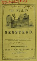 view The invalid's bedstead.
