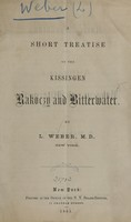 view A short treatise on the Kissingen Rakoczy and Bitterwater