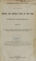 view Conservative surgery, with a list of the medical and surgical force of New York in the War of the Rebellion, 1861-2 : to which is added a brief notice of the hospitals at Fortress Monroe and White House, Virginia