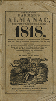 view The New York farmer's almanac, for the year of our Lord 1818