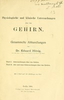 view Physiologische und klinische Untersuchungen über das Gehirn : gesammelte Abhandlungen.