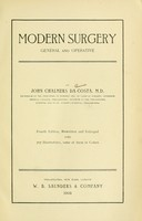 view Modern surgery, general and operative / by John Chalmers Da Costa.
