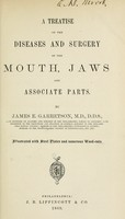 view A treatise on the diseases and surgery of the mouth, jaws and associate parts / by James E. Garretson.