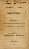 view Compendious system of midwifery : chiefly designed to facilitate the inquiries.