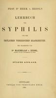 view Lehrbuch der Syphilis und der örtlichen venerischen Krankheiten