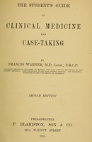 view The student's guide to clinical medicine and case-taking.