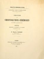 view Structure des circonvolutions cérébrales : (anatomie et physiologie) ... / par le Dr. Charles Richet.