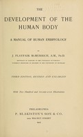 view The development of the human body : a manual of human embryology / by J. Playfair McMurrich.