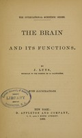 view Brain & its functions.