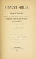 view Dr. Benedict Stilling : Gedächtnissrede gehalten auf der zweiundfünfzigsten Versammlung deutscher Naturforscher und Ärzte zu Baden-Baden am 18. Sept. 1879.