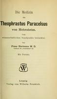 view Die Medizin des Theophrastus Paracelsus von Hohenheim : Vom wissenschaftlichen Standpunkte Betrachtet