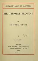 view Sir Thomas Browne