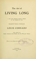 view The art of living long : a new and improved English version of the treatise