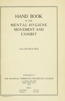 view Hand book of the mental hygiene movement and exhibit.