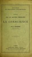 view Essai sur les donnees immediates de la conscience.
