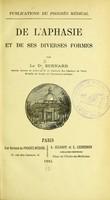 view De l'aphasie et de ses diverses formes : Publications du Progres Medical.