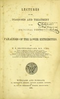 view Lectures on the diagnosis and treatment of the principal forms of paralysis of the lower extremities.