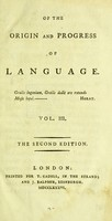 view On the origin and progress of language.