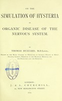view On the simulation on hysteria by organic disease of the nervous system.