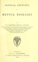 view Clinical lectures on mental diseases.