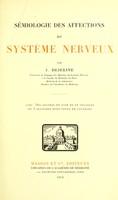 view Semiologie des affections du systeme nerveux.