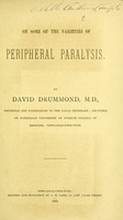 view On some of the varieties of peripheral paralysis.
