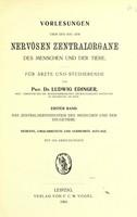 view Vorlesungen uber den Bau der nervosen Zentralorgane des Menschen und der Tiere : fur Arzte und Studierende.